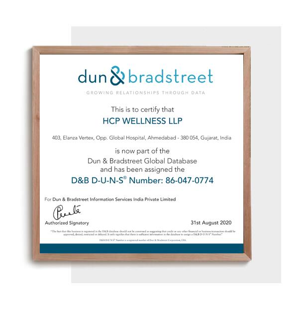 D&B D-U-N-S Certificate - Cosmetic Manufacturer india